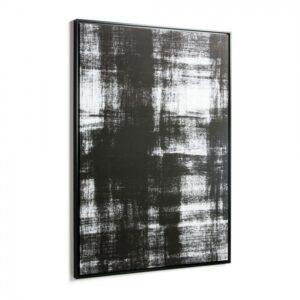 Tableau abstrait en noir et blanc