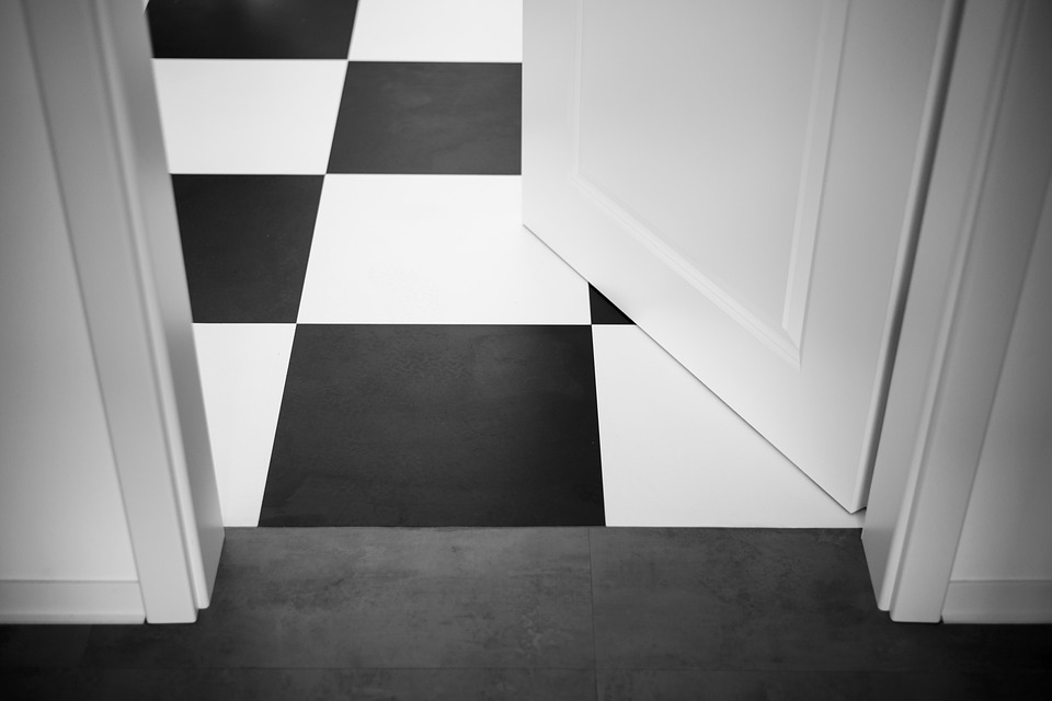 Idées déco d'une chambre en noir et blanc