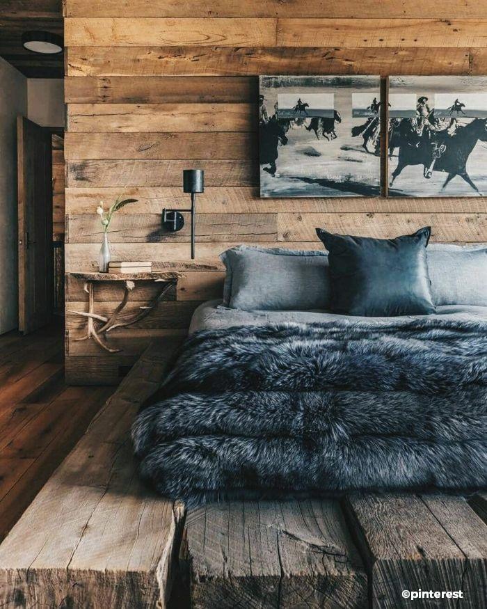 Déco chambre style chalet