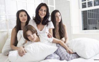 Lio et ses enfants :  Diego, Garance, Léa de Vasconcelos etc